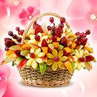 Букет из фруктов и ягод – вкусная композиция