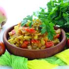 Баклажанная икра из печеных овощей