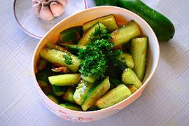 Корейский салат из огурцов