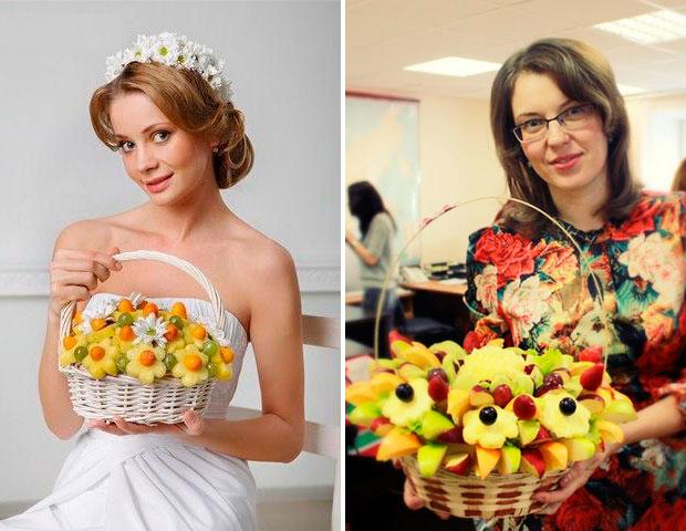 Свадебный букет из фруктов и ягод