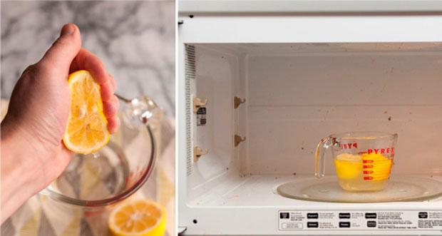 Как быстро почистить микроволновку