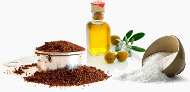 Кофейный скраб с оливковым маслом