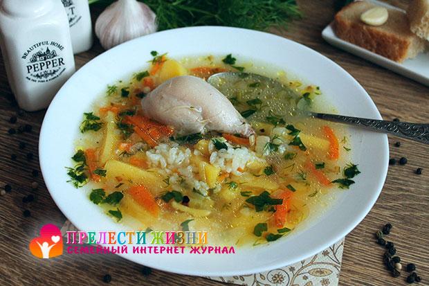 Суп с рисом и курицей