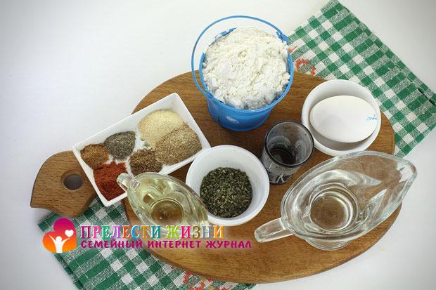 Продукты для приготовления хрустящего хвороста
