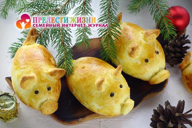 Праздничные булочки на Новый год фото