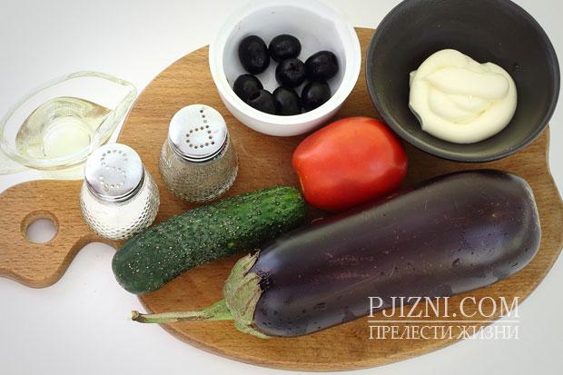 Продукты для закуски из баклажанов
