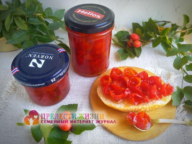 Варенье из ягод шиповника фото